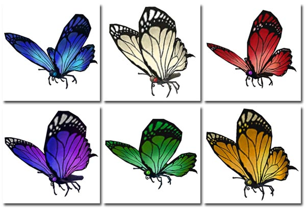 New butterfly model and colors