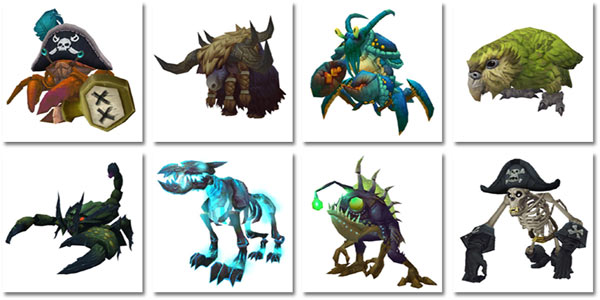 Various pets from Island Expeditions