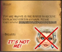 Gold Seller Scams Using Breanni