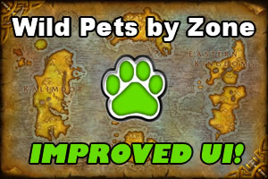 Wild Pets by Zone - Improved UI