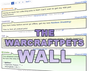 The WarcraftPets Wall